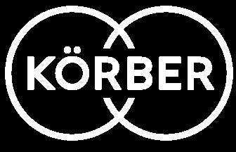 Korber logo in white.